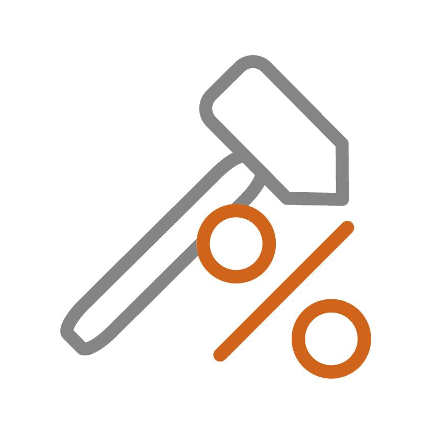Rabatt Hammer Prozent Icon Gödde GmbH