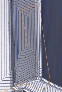 Werkzeugweg Spiralförmige 3D Kontur