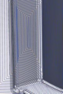 spiralförmige 3D kontur Werkzeugweg