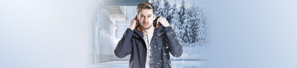 Mann Winter Jacke schnee