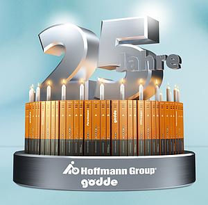 25 Jahre Jubiläum Hoffmann Group Partner Kuchen Kerzen