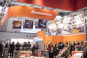 logimat messe hoffmann group messestand