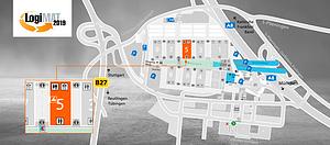 Lage- und Hallenplan 2019 LogiMAT