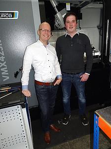 Herr Dirk März, Außendienstmitarbeiter Gödde GmbH und Herr Marcel Hüster, Geschäftsführer der HSS Zerspanungstechnik GmbH & Co. KG