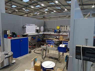 Produktionsfläche bei RNA in Aachen